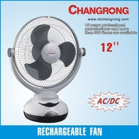 "emergence rechargeable 12"" rechargeable electric table fan"