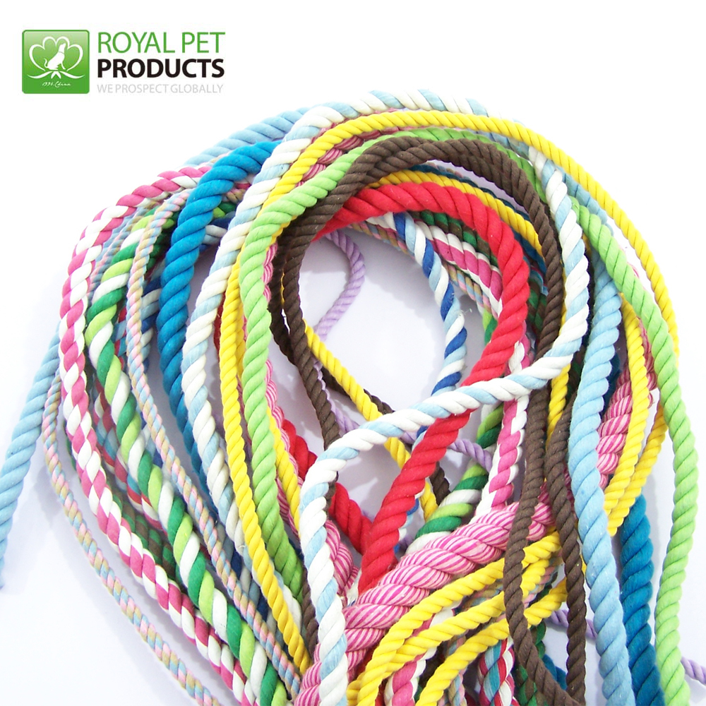 3 strand High tensile colorful Braided cotton pet rope