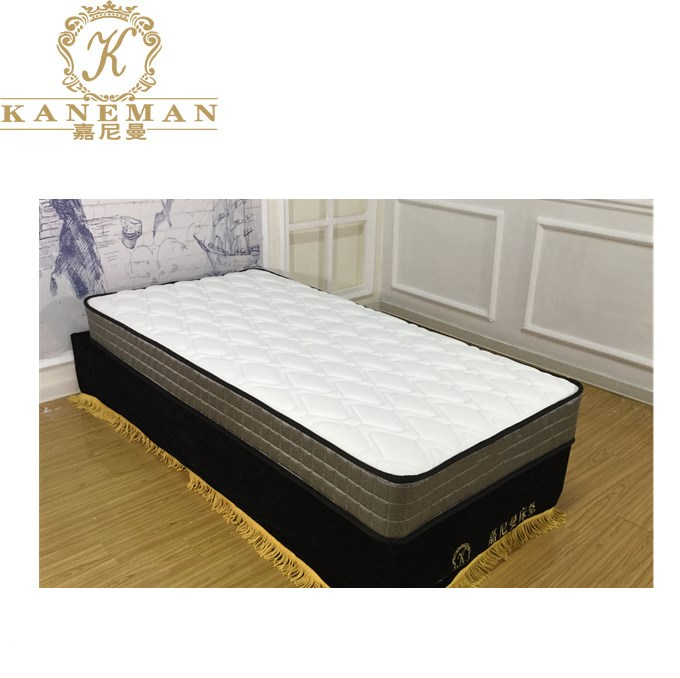 Cheap price tight top continuous spring mattress flat packing in a wooden pallet - Jozy Mattress   Jozy.net