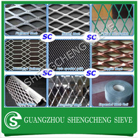 Expanded Metal-Grid Made of Flattened Expanded Metal For Car Grills