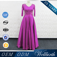 Celebrity Evening Gowns plus mother dress New Designs Long Sleeves Maxi Evening Dress