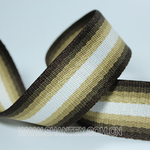 Hot sale colored cotton/pp webbing stripes carrying belt