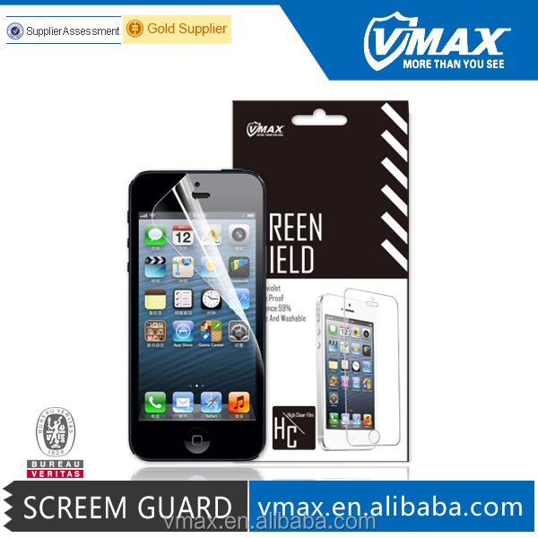 2 IN 1 Front & Back High Clear Anti uv Professional mobile screen guard for iPhone 5 5c 5s