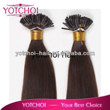 2013 good quality double drawn indonesia hair I tip hai extension