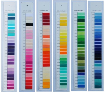 color chart for rayon embroidery thread, embroidery yarn color card
