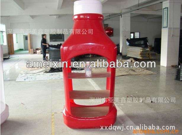 Vacuum forming thermoforming ABS thick plastic Bottle Display Rack