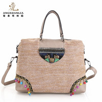 PP straw beach bag design for ladies wholesale cheap price women handbag