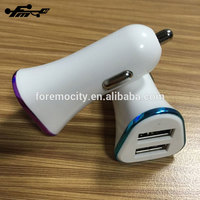2018 hot sale mobile phone car charger dual usb charger with wholesale price