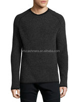 knitted men's sweaters crew neck cashmere blended sweater men
