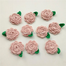 many colors rose design hand made crocheted flowers