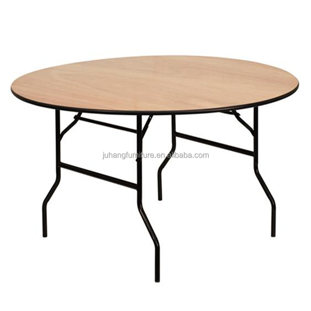 "72"" Big Wooden Round Folding Dining Table"