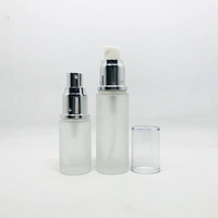 20ml 25ml 30ml 50ml empty liquid foundation cosmetic packaging empty lotion bottle with matte rose gold cap