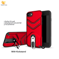Wholesale Hybird Armor Rugged Stand Case Cover For Iphone 8 Aluminum Phone Case
