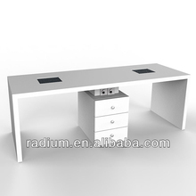 Professional Double Manicure table for nail art,Nail salon furniture