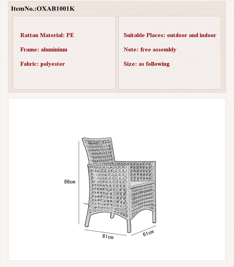 white rattan flat rattan with cushion single chair KD chair