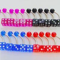 body piercing jewelry --' dice belly ring