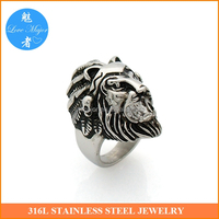 lord of king Musk Indian skull design casting stainless steel ring of fashion jewelry