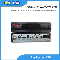 cheap mini digital satellite receiver ip-s2 support cccam, powervu live channels account Eurpean, arabic, albanian iptv box