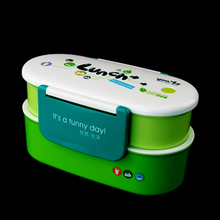 800ml BPA Free 2 Tier Compartment Plastic Bento Lunch Box For Kids