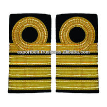 Deck Officer epaulettes 1,2,3,4 Bar Curl on Top | Royal Navy Captains Epaulettes Rank Badge