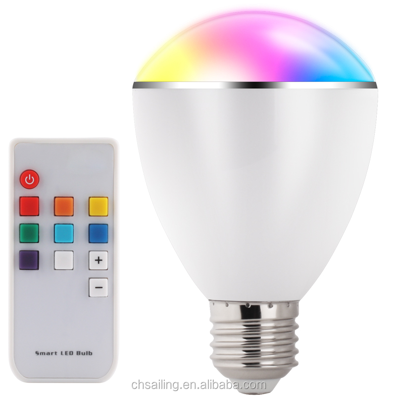 BL07R Smart LED <strong>bulb</strong> E27 / B22 colorful lights changing