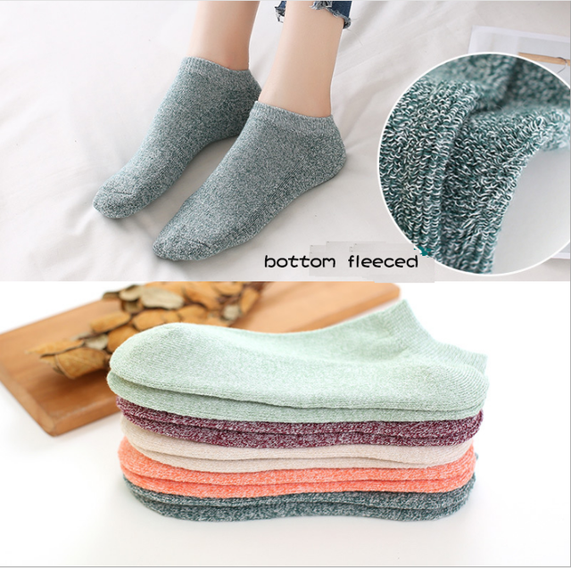 new design wholesale custom cotton warm fleeced soft touch girls socks,young ladies fashion fuzzy thermal low cut ankle socks