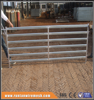 Factory hot sale heavy duty hot dipped galvanized corral panels /metal livestock fence for cattle sheep or horse(Since 1989)