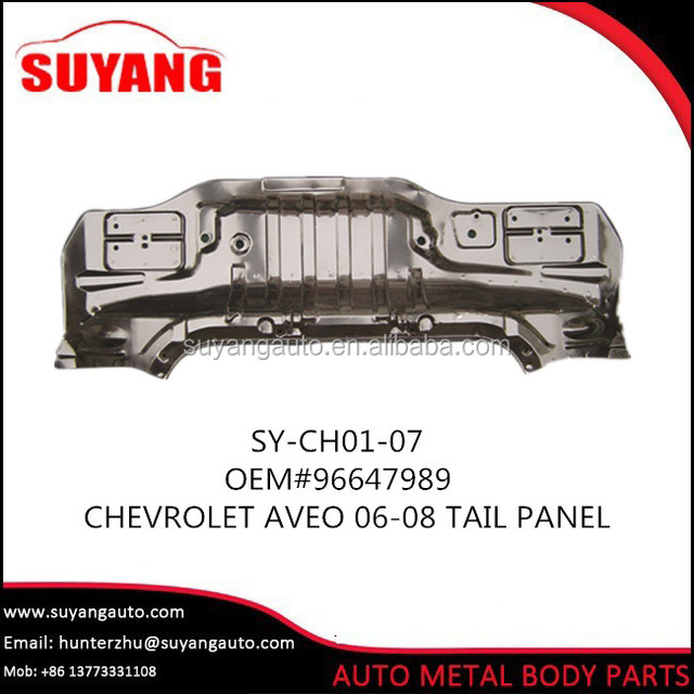 Aftermarket steel tail panel for chevrolet aveo lova 06-08 auto body parts