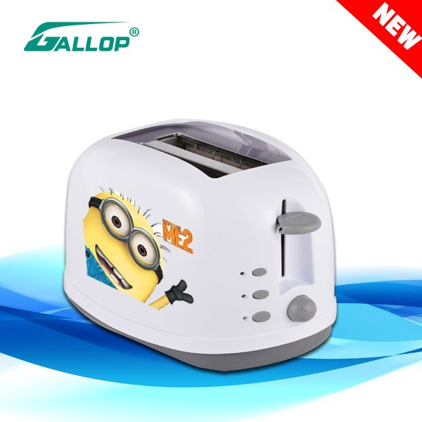 2016 Gallop Hot Sale Plastic cuteLogo Toaster 2 Slice LOGO toaster JX-T4228 China Supplier