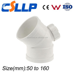 PVC Pipe Fitting 45 degree elbow with checking hole