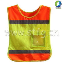 Children reflective vest with one front pocket(ST-C02)