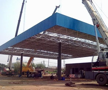 Steel Structure Building Used steel frame Gas Station Canopy For Sale