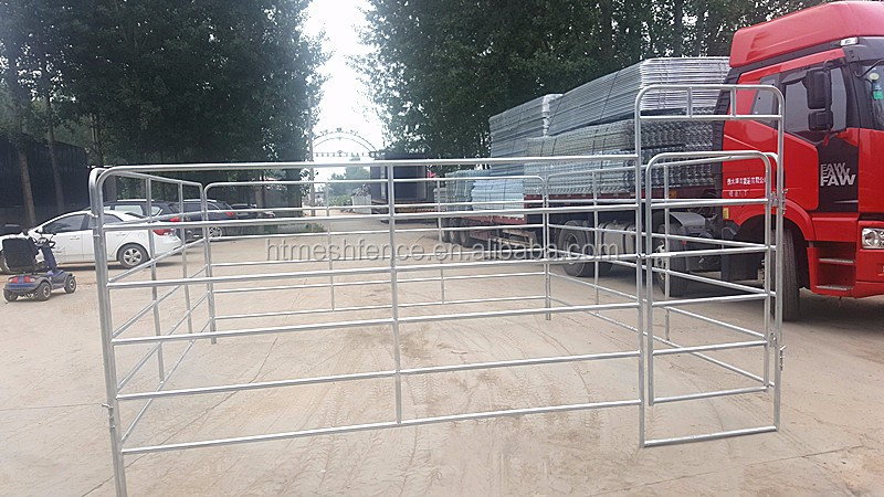 Economical Sheep Yard 1m High 2.9m Long 7 Rails Round/ Oval Pipe with Budget Panel/New Foot Design