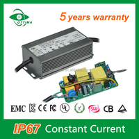 ce approved high PF waterproof constant current 36v hlg led driver 1500mA