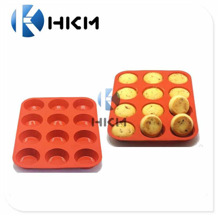 12sheet Pumpkin silicone cake mold/Baking tools/Bread/mousse/toast pan cake for DIY bakeware