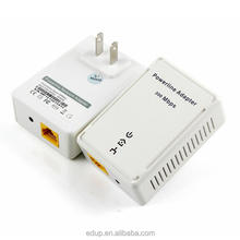 200Mbps Home Plug AV powerline PLC adapter with wall socket type