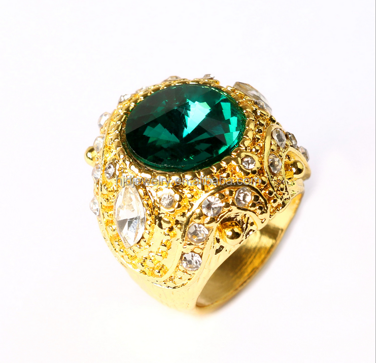 new design gold ring glass gemstone zircon chion