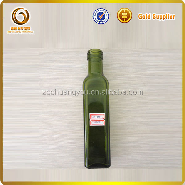 small 250ml olive oil glass bottle for sale
