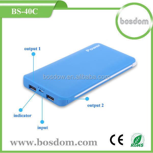 wholesale 4000mah <strong>portable</strong> built in cable power bank for ipad/iphone