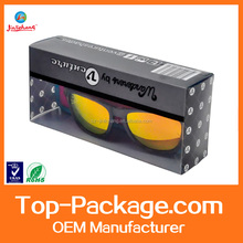 custom made printing clear plastic packaging box for sunglass