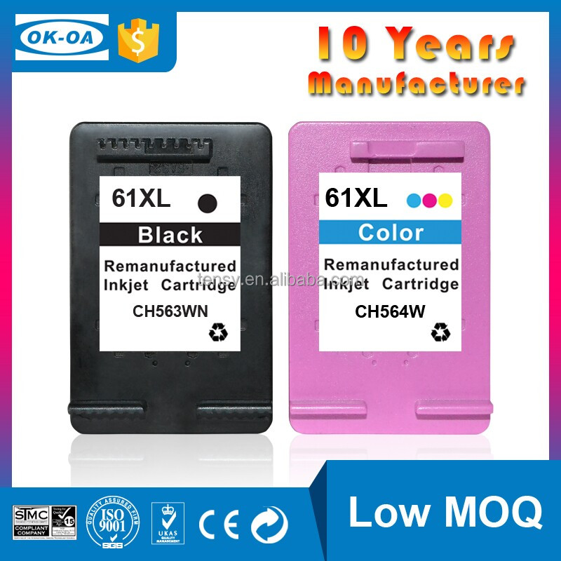 Durable Compatible Ink cartridge for hp 61 cartridge CH564WE reset chips for hp 61