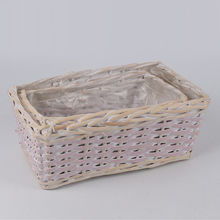 handicrafts weaves large willow wicker baskets with handles