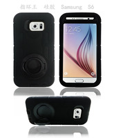 Shockproof 3 in 1 Clips Hard Silicon +PC Case, Power Robot Armor Case for Samsung S6