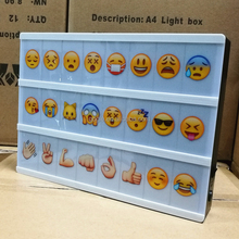 Cinema Sign For A4 CINEMATIC LIGHTBOX Color Emoji, Glyphs Card,A Set Includ 85pcs