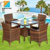 Aluminum Frame Rattan Restaurant Dining Chairs