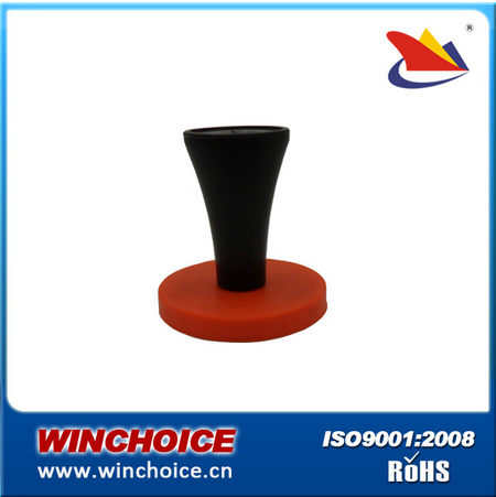 Neodymium magnetic sign gripper ring NdFeB magnet with rubber covering largest neodymium magnet