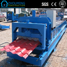 Trade Assurance Galvanized Aluminum Color Steel simple Roof Panel Roll Forming Machine/Production Line