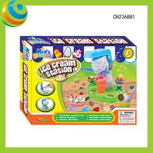 Educational Kids Colored Clay Ice Cream Station Dough Toys