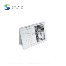 supply design service customised table calendar /spiral binding calendar 2018