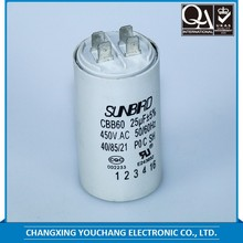 CBB60 split ac capacitor for washing machine motor with 25/70/21